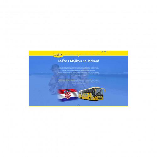 Májka webová prezentace promotion