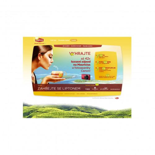 Lipton promotion webová prezentace